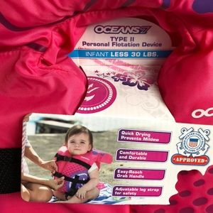 Oceans7 Accessories - Infant Life Vest NWT up to 30 Lbs